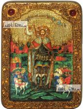Александр Невский, благоверный князь (ростовой), аналойная икона подарочная