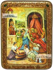 Рожество Пресвятой Богородицы, аналойная икона подарочная