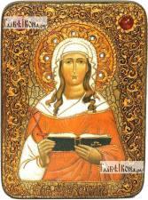 Валентина Кесарийская мученица, аналойная икона подарочная