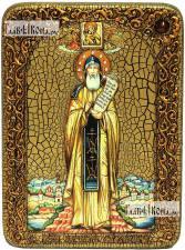 Никита Столпник, преподобный, аналойная икона подарочная