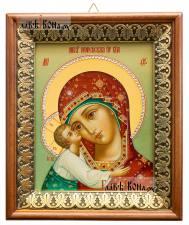 Игоревская Божия Матерь, икона на холсте в киоте-рамке