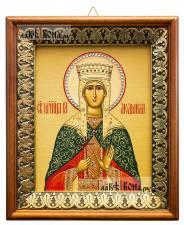 Людмила Мученица, икона на холсте в киоте-рамке