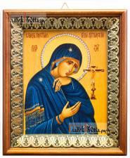 Ахтырская Божия Матерь, икона на холсте в киоте-рамке
