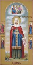 Мерная икона Дарии с Троцей и предстоящими, артикул 156