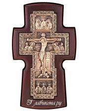 Крест православный гальванический, широкий, посеребренный