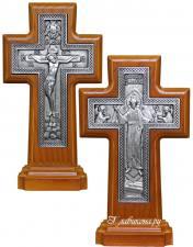 Двухсторонний православный крест на подставке