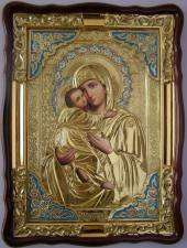 Владимирская Божия Матерь (в ризе), икона храмовая