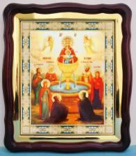 Живоносный источник Божия Матерь, аналойная икона (43 х 50 см)