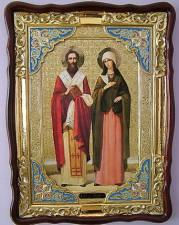 Киприан и Устинья, икона храмовая