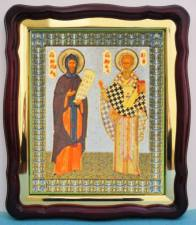 Кирилл и Мефодий, аналойная икона (43 х 50 см)