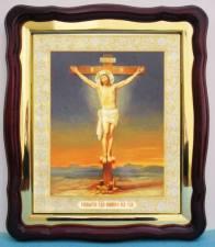 Распятие Господа Иисуса Христа, аналойная икона (43 х 50 см)