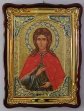 Юлия святая мученица, икона храмовая