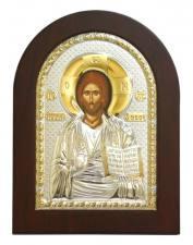 Спас Премудрый (Господь), икона в посеребренном окладе