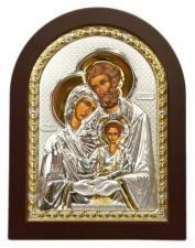 Святое Семейство - икона в серебре