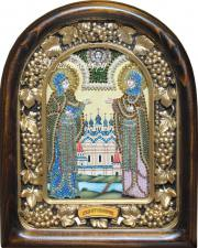 Петр и Феврония икона (светлая)