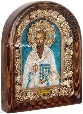 Василий Великий, икона из бисера