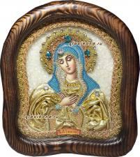 Икона Умиление в золотом атласе