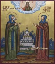 Икона Петр и Феврония подарочная