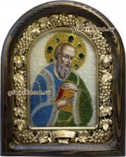Иоанн Богослов, икона из бисера