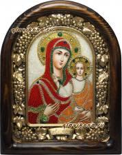 Икона Смоленской Божией Матери из бисера