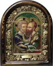 Петр и Павел икона из бисера