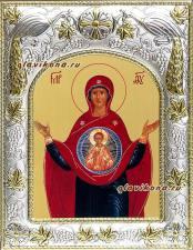 """Божия Матерь """"Знамение"""", икона в ризе"""