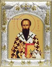 Василий Великий, икона в ризе