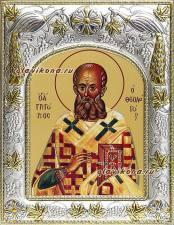 Григорий Богослов, икона в ризе
