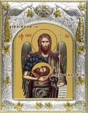 Иоанн Предтеча (поясной), икона в ризе