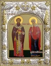 Киприан и Иустина, икона в ризе