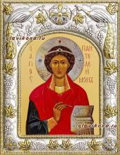 Целитель Пантелеимон, икона в ризе