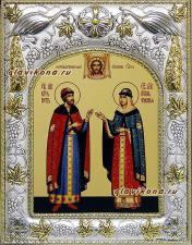 Петр и Феврония (княжеские), икона в ризе