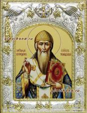 Спиридон Тримифунтский (в одеждах епископа), икона в ризе