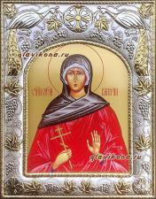 Валерия Кесарийская, икона в ризе
