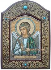 Ангел Хранитель, икона из бересты
