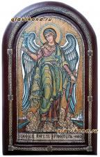 Ростовая икона Ангела Хранителя из бересты