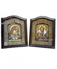 венчальные иконы сделанные из бересты
