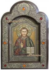 Икона Господа Вседержителя писанная на бересте