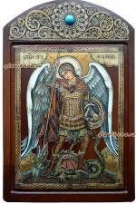 ростова икона Архангела Михаила на бересте