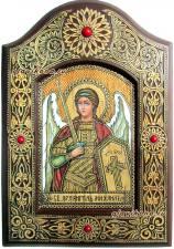 поясная икона Архангела Михаила на бересте