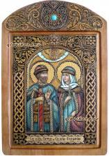 Петр и Феврония икона на бересте