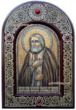 Серафим Саровский, икона на бересте