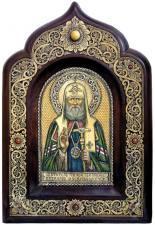 Икона Тихона из бересты