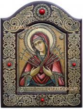 Семистрельная икона на бересте написанная