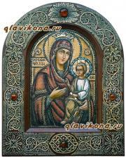 Скоропослушница, писанная икона из бересты