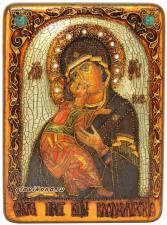 Владимирская БМ икона под старину подарочная