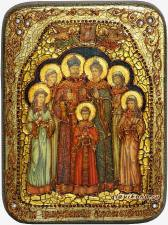 Царственные страстотерпцы - икона подарочная