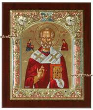 Николай Чудотворец, греческая серебряная икона