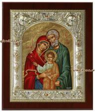 Святое Семейство, икона серебряная