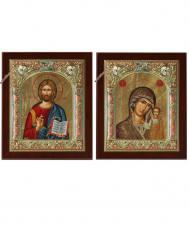 Венчальная пара икон, сделанных в Греции